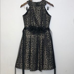 Muse Cheetah Print Dress Size 2 EUC